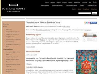 Lotsawa House - Translations of Tibetan Buddhist Texts