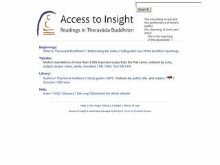 Access to Insight - A Theravada Library